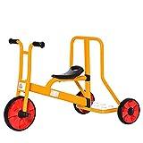 HOMCOM Kinderdreirad Dreirad mit Rückenlehne Plattform Fahrrad für Kinder 3-5 Jahre Kinderfahrzeug mit großen Rädern Stahl PP-Kunststoff Mehrfarbig 101 x 58 x 63 cm