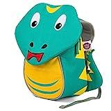 Affenzahn Kleiner Freund - Kindergartenrucksack für 1-3 Jährige Kinder im Kindergarten und Kinderrucksack für die Kita - Schlange - Türkis