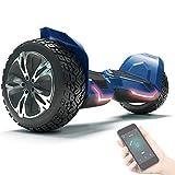 8.5' Premium Offroad Hoverboard Bluewheel HX510 SUV Deutsche Qualitäts Marke- Kinder Sicherheitsmodus & App - Bluetooth - Starker Dual Motor - Elektro Skateboard Self Balance Scooter (Weiß) (Blue)