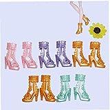 Ruluti 10 Paar Bunte Accessoires Schuhe Für Hohe Puppenstiefel High Heel Schuhe Sandalen Für Puppe Mix Zufällige Farbe