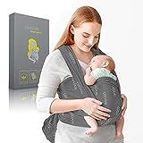 COCOON® Baby Tragetuch – Babytragetuch für Früh- & Neugeborene - bis zu 15kg [0-18] Monate – Babytragetuch inkl. Bindeanleitung – Weiche & atmungsaktive Baumwolle – Einheitsgröße