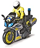Dickie Toys – Polizei Motorrad – Spielzeug Motorrad mit Polizisten-Figur, für Kinder ab 3 Jahren, mit Blaulicht und Sirene, Freilauf, 17 cm lang