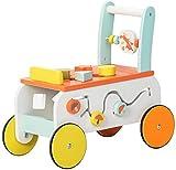 labebe Baby Lauflernwagen Holz Fuchs Lauflernhilfe 2 in 1 Push Pull Spielzeug Activity Babywalker Kinderwagen für Kinder ab 1 Jahre