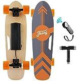 Nesaila 70cm(27') Elektro Skateboard mit Drahtloser Bluetooth Fernsteuerung, Elektro Scooter longboard E-Skateboard für Erwachsene Jugendliche, 7-lagiges Ahorn  350W Motor  Max. Geschwindigkeit 20km/h