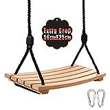Schaukel Holz für Kinder mit Einstellbares Seil Kinderschaukel für Innen und Außenbereich Erwachsene Schaukelsitz