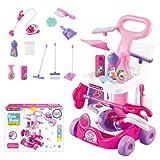 Woopie Putzset für Kinder   Reinigungsspielzeug   Reinigungswagen   Kinderstaubsauger   Kinderbesen und Mopp   Rollenspiel   11 Zubehörteile   Spielzeug für Kinder ab 3 Jahren