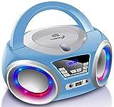 CD-Player mit LED-Beleuchtung   Kopfhöreranschluss   Tragbares Stereo Radio   Kinder Radio   Stereoanlage   USB   CD/MP3 Player   FM Radio   Kopfhöreranschluss   Aux In