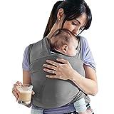 Lilly and Ben® Baby-Tragetuch I Babytrage aus BIO-Baumwolle I Tragetuch für Baby ab der Geburt bis 15 kg I elastisches Tragesystem für verschiedene Trageweisen I Erstausstattung für Neugeborene