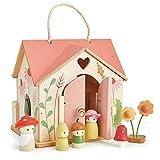 Tender Leaf Toys Rosewood Cottage Puppenhaus mit Möbelzubehör und Puppen – fantasievolles Spielen für Kinder mit Waldfee