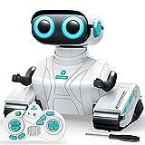 REMOKING RC Roboter Kinder Spielzeug, 2.4GHz Ferngesteuertes Auto mit Ton und Licht, Roboter Geschenk für Jungen und Mädchen (Weiß)