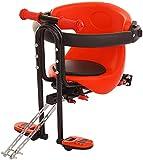 SHZICMY Kindersitz 30kg Kinder Fahrradsitz Sicherheits-Kindersitz Baby Fahrrad-Vordersitz mit Pedal Und Griff, Kinderfahrradsitz Sicherheitssitz Deinstallieren für 2-5 Jahre