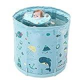 MaxDal Babybadewanne Für Erwachsene Und Kinder, Neugeborenenbadewanne, Faltbare Badewanne, Ganzkörper-Schwitzbad (Color : Green, Size : 80cm)