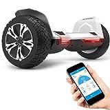 8.5' Premium Offroad Hoverboard Bluewheel HX510 SUV Deutsche Qualitäts Marke- Kinder Sicherheitsmodus & App - Bluetooth - Starker Dual Motor - Elektro Skateboard Self Balance Scooter (Weiß) (White)
