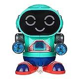 wojonifuiliy Elektro Rock Roboter für Jungen und Mädchen, Intelligenter Dancing Roboter Kinder mit Licht und Musik, Roboter Spielzeug ab 3 Jahre (C)