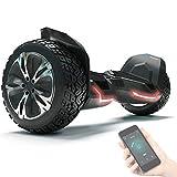 8.5' Premium Offroad Hoverboard Bluewheel HX510 SUV Deutsche Qualitäts Marke- Kinder Sicherheitsmodus & App - Bluetooth - Starker Dual Motor - Elektro Skateboard Self Balance Scooter (Weiß) (Black)