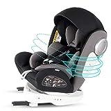 Bonio Kindersitz 360 ° Drehbar Autositz ISOFIX Gruppe 0+/1/2/3 (0-12 Jahre alt) 0-36kg mit Seitenschutz (Schwarz 4)