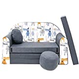 millybo Kindersofa Mini Couch Spielsofa Kindercouch 3in1 Doppelsofa Minisofa (AX3)