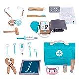 17 Stück Kinder Holz Arztkoffer Spielzeug, Doktorkoffer Zum Rollenspiel, Arzt Medizinisches Spielset Spielzeug Mit Stethoskop, Otoskop & Arzt Ausrüstung, Arzt Set Kinder Ab 3 Jahre