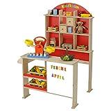 Beluga 30874 - Holz-Kaufladen mit Rückwand und Magnettafel