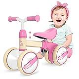 Gonex Kinder Laufrad Balance Lauflernrad ab 1 Jahr Jungen Mädchen, Höhenverstellbar Erst Baby Laufrad 4 Räder Rutschrad Geschenk für 10-36 Monate