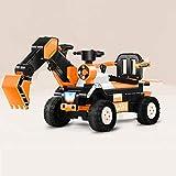 Lihgfw Kinderbagger kann den Bagger-Spielzeug-Auto-Koppler-Baufahrzeug-Kinder-Elektroauto-Spielzeug-Vier-Rad fahren, das das Auto fahren kann, kann wiederaufladbare Jungen und Mädchen über 3 Jahre alt