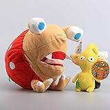 Plüschtier 2 Styles Pikmin Bulborb Chappy 25 cm & Gelbe Blume 14 cm Niedliche Plüschtiere Weiche Stofftiere Puppen Kinder Geschenk