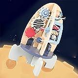 Wdmiya Holzspielzeug ab 1 Jahr   Bunter Motorikwürfel Baby Montessori Spielzeug   Steckspiel Kinder Motorikspielzeug für 12 Monate Jungen und Mädchen   BPA-Frei Kleinkind