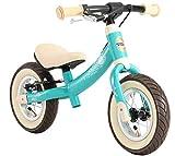 BIKESTAR Kinder Laufrad Lauflernrad Kinderrad für Jungen und Mädchen ab 2 - 3 Jahre   10 Zoll Sport Kinderlaufrad   Türkis   Risikofrei Testen