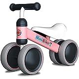 YGJT Kinder Laufrad ab 1 Jahr | Fahrrad Spielzeug für 10 - 24 Monate Junglen und Mädchen | Rutschrad Baby Geschenk für Ersten Geburtstag Neu Jahr (Pink)