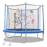 Trampolin mit Sicherheitsnetz Ø 305 cm - Outdoor Gartentrampolin - Übung Fitness für Kinder Erwachsene Outdoor Indoor - 300 KG Kapazität