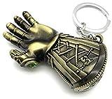 ROSETOR 1 Stück Gauntlet Schlüsselanhänger Avengers Gauntlet Schlüsselanhänger Golve Thanos Axt Schlüsselanhänger Inficnity War für Fans (Bronze-Handschuh).