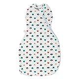 Tommee Tippee Babyschlafsack, The Original Grobag Easy Swaddle Pucksack, weiches Gewebe mit hohem Baumwollanteil, 0–3 Monate, Katz und Maus, mehrfarbig 163 g