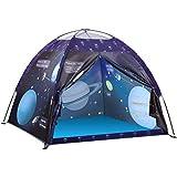 Exqline Kinderzelt, Universum Spielzelt für Jungen Mädchen, Spielzelt Kinderzimmer Kinder Zelt Garten Pop-up Zelt mit Tragbarer Tasche, Spielhaus für Drinnen Außen, Geschenk für Kinder (Voyager 2)