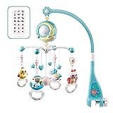 Mobile Baby with Spieluhr, Mobiles Baby Bett Glocke Spielzeug Hängende Rasseln Projektion Spielzeug Geschenk für Neugeborene Kleinkind