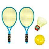 Seciie Tennisschläger Kinder, Badminton Racket Set mit Badminton bälle Draussen Spielzeug für Kinder ab 3 4 5 6 Jahren
