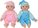 The New York Doll Collection Zwillinge Puppen - weichKörper Spielen Baby 12 Zoll / 30 cm (Kaukasischer)