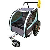 DUTUI Zweisitzer-Outdoor-Fahrradanhänger Für Kinder, Großes Mountainbike Für Ausflüge, Klappbarer Und Bequemer Sitz