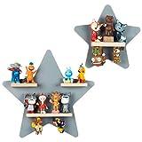 BOARTI das Original Kinder Regal Sammelset Sterne in Grau TÜV/ GS-Zertifiziert - geeignet für ca. 22 Tonies - zum Spielen und Sammeln
