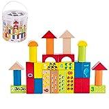 WFF Spielzeug Große Teilchen Bausteine Massivholz-Bausteine Spielzeug 3-jährige Kleinkinder Kinder Lernspielzeug Assembled Baby-Aufklärung Spielzeug (Color : 30 Capsules)