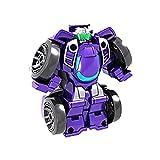 wojonifuiliy Kleinkinder Baufahrzeuge Roboter Kinderspielzeug - Roboter für Kinder Ziehspielzeug mit haltbaren Anschlüssen Einfache DIY-Montagefunktion Pädagogisches Spielzeug (Lila)