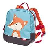 SIGIKID 25053 Rucksack Fuchs Forest Bags Mädchen und Jungen Kinderrucksack empfohlen ab 2 Jahren blau/orange, 23x20x10 cm