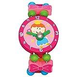 Bino Mädchenschmuck Kinderschmuck Holzschmuck Motiv Armbanduhr Fee Rosa