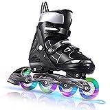 WeSkate Inline Skates für Kinder, Verstellbare Rollschuhe mit Leuchträdern für Mädchen Frauen Männer Jungen Jungen Kleinkinder
