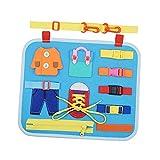 SM SunniMix Busy Board für Kleinkinder 1 2 3 Jahre alt, Filzstoff Sensory Board Spielzeug Geschenke für Jungen und Mädchen Vorschulkind Aktivitäten Lernspielzeug