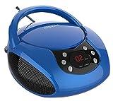 auvisio Kinderradio: Tragbarer Stereo-CD-Player mit Radio, Audio-Eingang & LED-Display (CD Player Kinder)