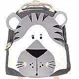 Kinderrucksack personalisierter kleiner Rucksack Kindergartenrucksack, Kinder Mini Schule Tasche,Kindergartentasche mit Design niedliche Tieren, Rucksack für 1-7 Jahre Jungs und Mädchen (A06-Tiger)