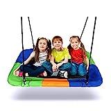 Nestschaukel, Dripex Garten Schaukel für Kinder Erwachsene, Tellerschaukel Outdoor Indoor bis 150 kg belastbar, 115 cm x 75 cm
