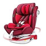LETTAS Kindersitz 360° Drehbar ISOFIX Top Tether Gruppe 0+1/2/3 (0-36kg) Seitenschutz Baby Autositz ECE R44/04