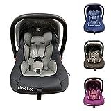Kikkaboo Kindersitz, Babyschale Vivo Gruppe 0+ (0-13 kg) weiches Körperkissen, Farben:grau