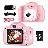 Kinder Kamera Spielzeug Mini Smart Record Video Digital SLR Kamera Cartoon Fotorahmen Kontinuierliche Aufnahmen Geburtstag Geschenke (Pink)